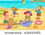 vector design of kids making... | Shutterstock .eps vector #626432450