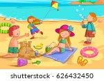 vector design of kids making... | Shutterstock .eps vector #626432450