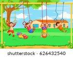 vector design of kids playing...   Shutterstock .eps vector #626432540