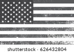 grunge usa flag.american flag... | Shutterstock .eps vector #626432804
