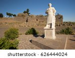 aristotle statue in front of... | Shutterstock . vector #626444024