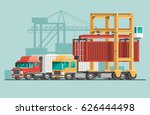 delivery service concept.... | Shutterstock .eps vector #626444498