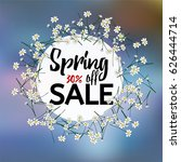 spring sale vector colourful...   Shutterstock .eps vector #626444714
