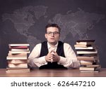 a young ambitious geography... | Shutterstock . vector #626447210