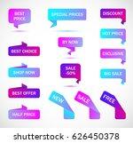 vector stickers  banner  label. | Shutterstock .eps vector #626450378