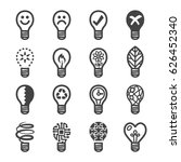 creative light bulb icons   Shutterstock .eps vector #626452340