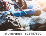 young person rafting on the... | Shutterstock . vector #626457530