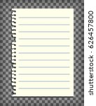 empty lined note book page with ...   Shutterstock .eps vector #626457800