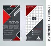 modern roll up business banners ...   Shutterstock .eps vector #626458784