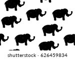 seamless pattern with black... | Shutterstock .eps vector #626459834