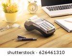 cashier hand holding a credit... | Shutterstock . vector #626461310