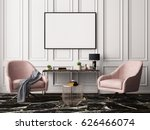 mock up poster in a pastel... | Shutterstock . vector #626466074
