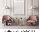 mock up poster in a pastel... | Shutterstock . vector #626466179