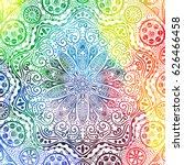 flower mandala design in... | Shutterstock .eps vector #626466458