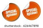 special discount stickers | Shutterstock .eps vector #626467898