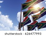 south africa flags waving in... | Shutterstock . vector #626477993