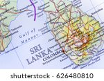 geographic map of sri lanka...   Shutterstock . vector #626480810