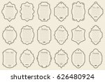 vector set of vintage frames on ... | Shutterstock .eps vector #626480924