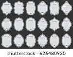 vector set of white vintage... | Shutterstock .eps vector #626480930