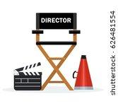 film directors chair with... | Shutterstock .eps vector #626481554