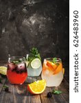 selection of three kinds of gin ...   Shutterstock . vector #626483960