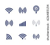 set of wi fi and wireless icons ... | Shutterstock . vector #626485154