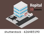 3d isometric hospital with... | Shutterstock .eps vector #626485190