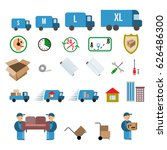 moving. relocation. set of... | Shutterstock .eps vector #626486300