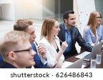 young attractive businessman... | Shutterstock . vector #626486843