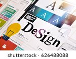 design concept for graphic... | Shutterstock . vector #626488088