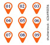 marker location icon with... | Shutterstock .eps vector #626490056