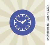 clock icon. sign design....