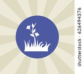 flower icon. sign design....