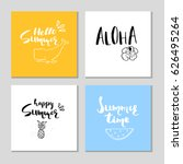 collection of four beautiful... | Shutterstock .eps vector #626495264