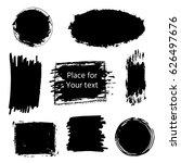hand drawn grunge brush strokes ... | Shutterstock .eps vector #626497676