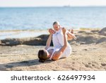 a mother and a son are doing... | Shutterstock . vector #626497934