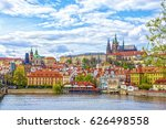 view of the prague castle and... | Shutterstock . vector #626498558