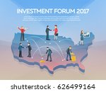 people on the 3d usa map.... | Shutterstock .eps vector #626499164
