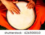 young lady drummer with her... | Shutterstock . vector #626500010