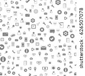 seamless web ui icons pattern ...