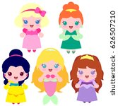 set of icons of princesses ...   Shutterstock .eps vector #626507210