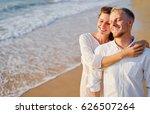 love and romance. honeymoon on... | Shutterstock . vector #626507264