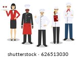 restaurant team concept. group... | Shutterstock .eps vector #626513030