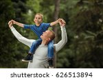 portrait of young father... | Shutterstock . vector #626513894