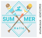 hello summer background with... | Shutterstock .eps vector #626513903