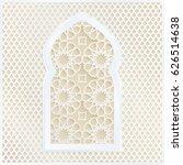 golden and white arabic... | Shutterstock .eps vector #626514638