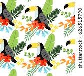 tropical jungle seamless... | Shutterstock .eps vector #626515790