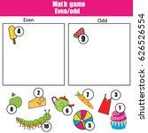 math educational game for...   Shutterstock .eps vector #626526554