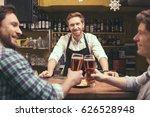 friends having fun in pub | Shutterstock . vector #626528948