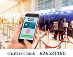 mobile wallet with touch id...   Shutterstock . vector #626531180